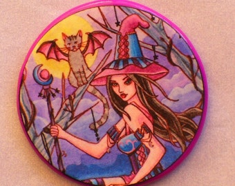 CALISTA and the BAT CAT Talisman Amulet Witch Wicca
