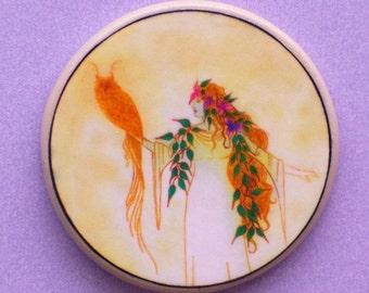WISDOM WITCH and OWL Talisman Amulet Wicca Pagan Totem