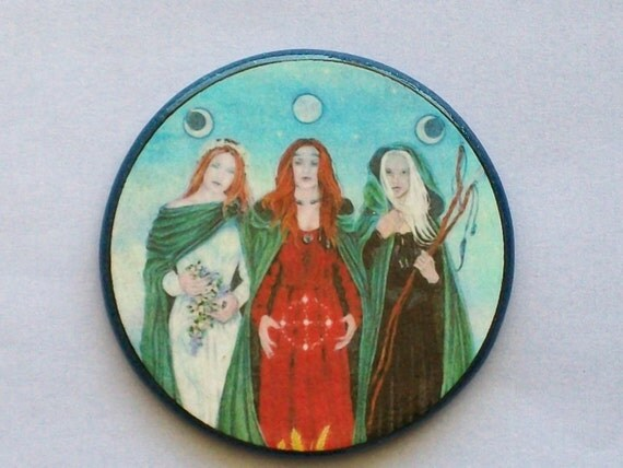 TRIPLE GODDESS Blessings Talisman Amulet Witch Wicca