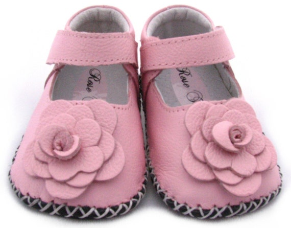 New Rose Toes Ballet Pink Baby Toddler Leather Soft Soled Walkers