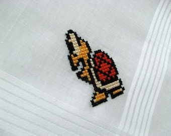 Nintendo cross stitch handkerchief - Koopa Troopa