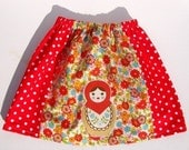 Girl's Red Babushka Skirt (Size 12mth-6yrs)