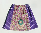 Purple Babushka Skirt (size 12mths-6yrs)
