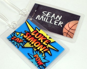 Laminated Bag Tag - Choose Your Own Design - Custom Bag Tag - Back to School - Diaper Bag Tag - Backpack Tag