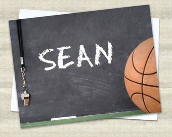 Basketball Folded Notecards