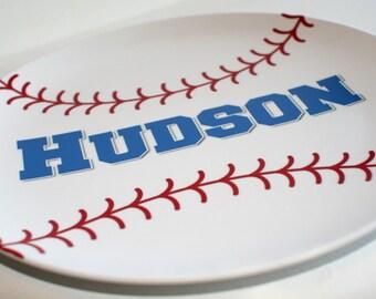 Baseball -  Personalized Melamine Plate