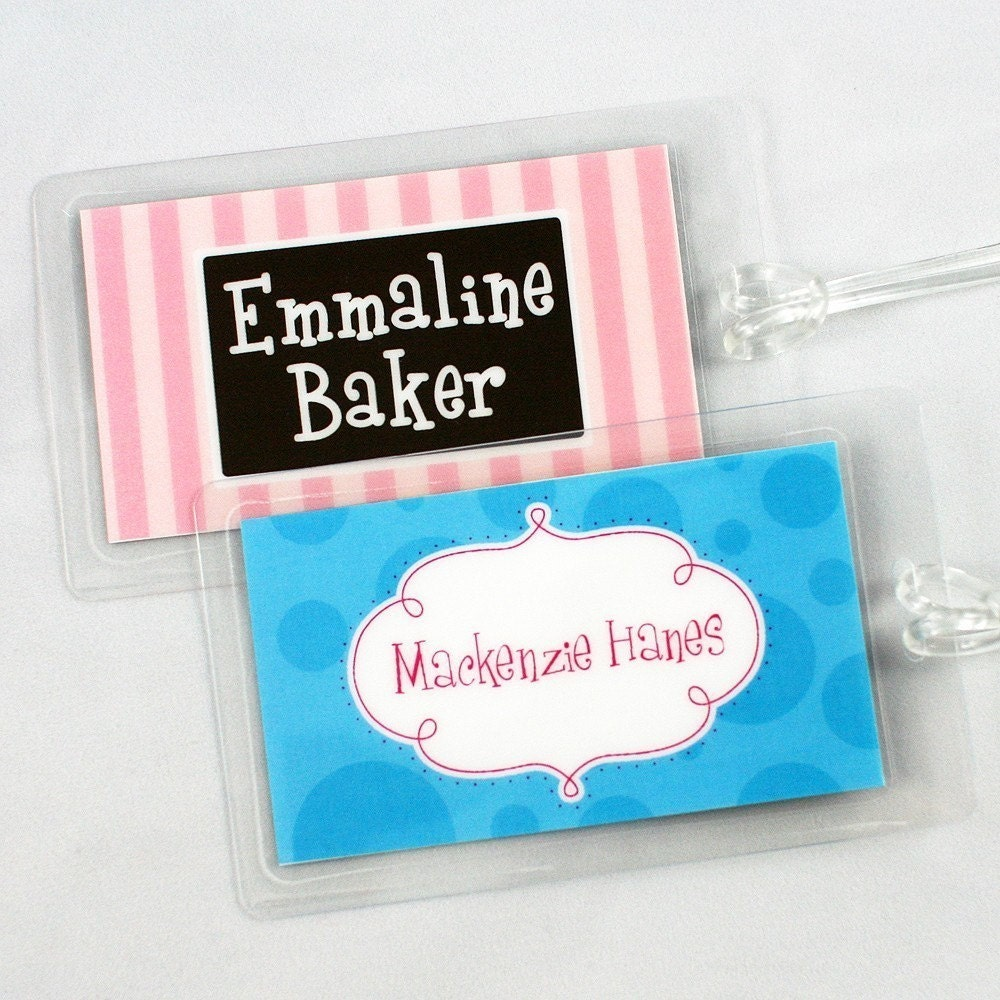 Personalized Bag Tag Laminated Bag Tag Luggage Tags