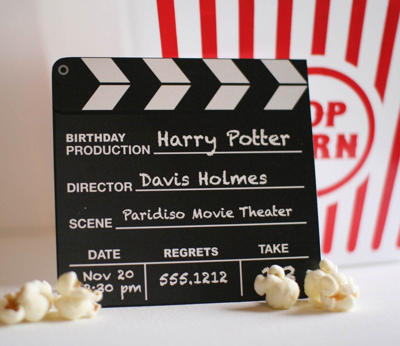Movie Birthday Party Invitations gangcraftnet – Movie Themed Party Invitations