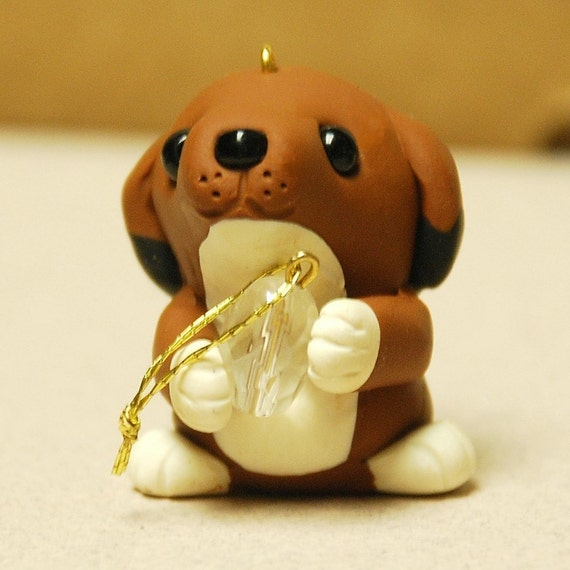 Puppy Ornament by Kari Schwartz