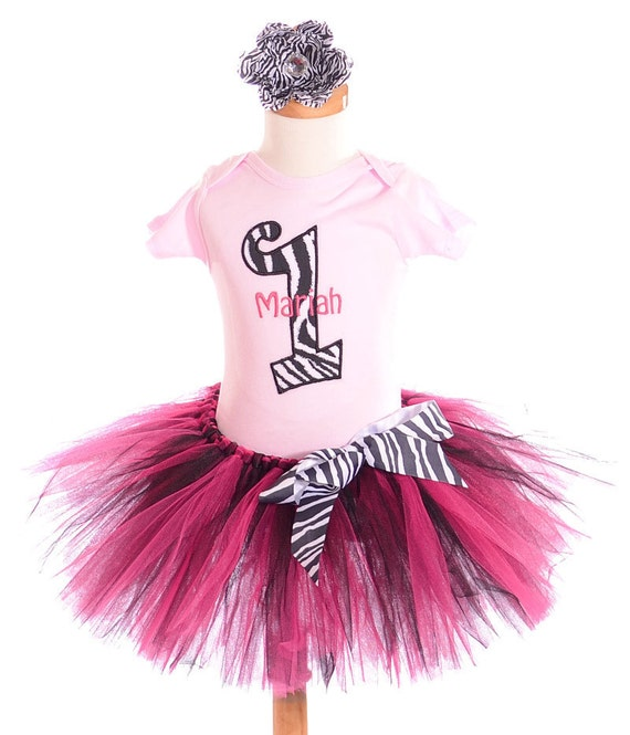 Items Similar To Zebra First Birthday Outfit