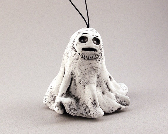 Halloween Ornament, Ghost Ornament, White Ghost, Spooky Ornament