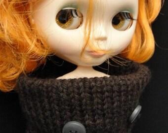 Dark Chocolate Brown MoMoMon -  for Blythe, Wataru, Momoko, Licca, LaTi & friends