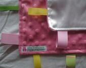 Pink Minky Dot Lovey Security Blankie