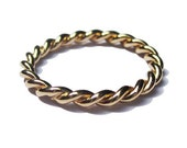 Gold Twist Ring Mens and Womens Wedding Bands in 14k Yellow Gold
