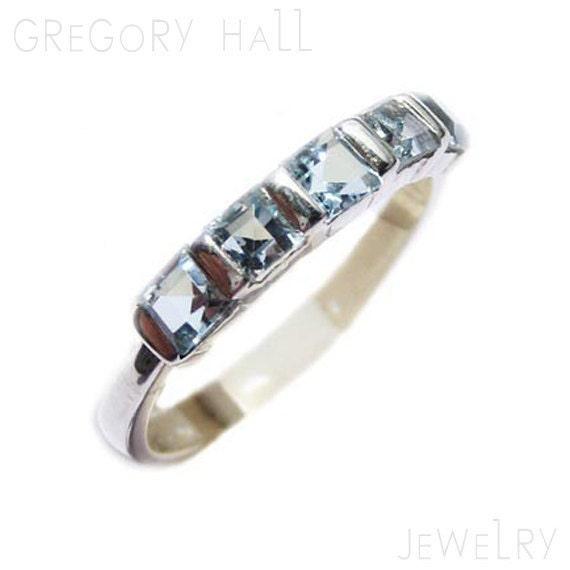 Blue Topaz Ring Sterling Silver Gemstone Jewelry Womens Wedding