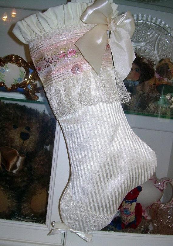 Elegant Victorian Style Christmas Stocking