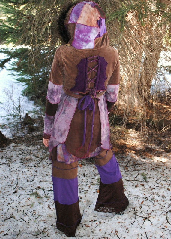 RESERVED for HART FoResT PiXie Long WraP jaCkeT, Hand Dyed FesTivaL Coat