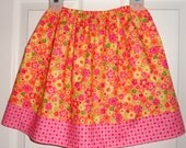 Girls Boutique Skirt Fun Flowers Size 4/5 Ready to Ship SALE