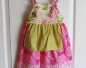 Midwest Girls apron Dress  Little Bohemian knot dress 12m to 10