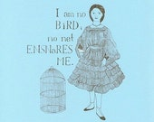 Charlotte Bronte Jane Eyre Gocco print by Yardia - I am no bird, Victorian