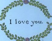I love you. Original Drawing. Yardia