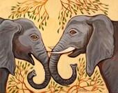 Talking Elephants - Print