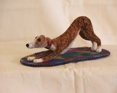 Custom Needle Felted Wippet,Greyhound, Italian Greyhound or Sighthound in Play Bow Pose