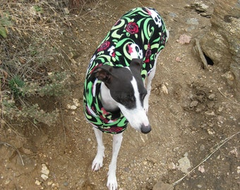 LARGE Italian Greyhound Dog Coat Digital Print at Home Sewing Pattern Designed to be Sewn From Polar Fleece