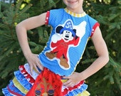 Boutique pageant mickey sorcerer fantasmic magical ruffle custom set 12m-12years