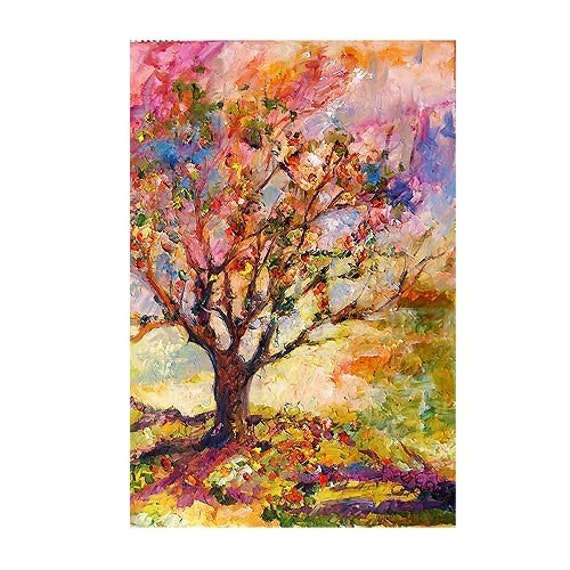RESERVED for marylucasazza Grandmother's Apple Tree  Large oil Painting by Ginette Callaway