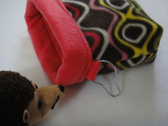 Girly Geo  Hanging Snugglie Bag for Rats or Sugar Gliders