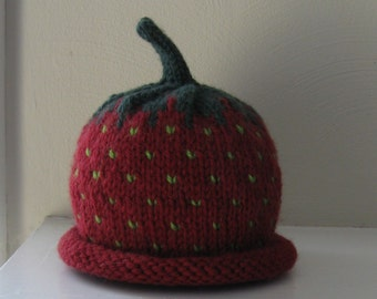 Baby Strawberry Hat - 6-18 Months - Made-to-Order