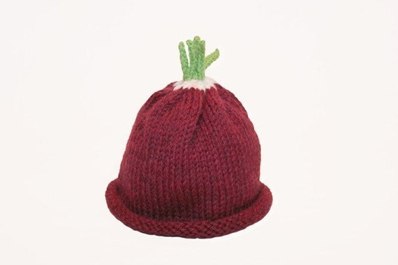 Radish Hat Autumn- Harvest - Fall - Toddler - Photography Prop or Everyday Use - Wool -- Sz 2 - 4 Years - Made to Order