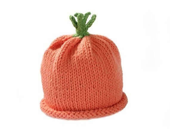 Carrot Hat for Baby - Sz 0-3 Months - Spring - Early Harvest - In Stock - Ready to Ship