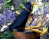 Primitive PDF Pattern, Crow, Primitive Doll,  Blackbird ,Sewing Pattern, Primitive Crow
