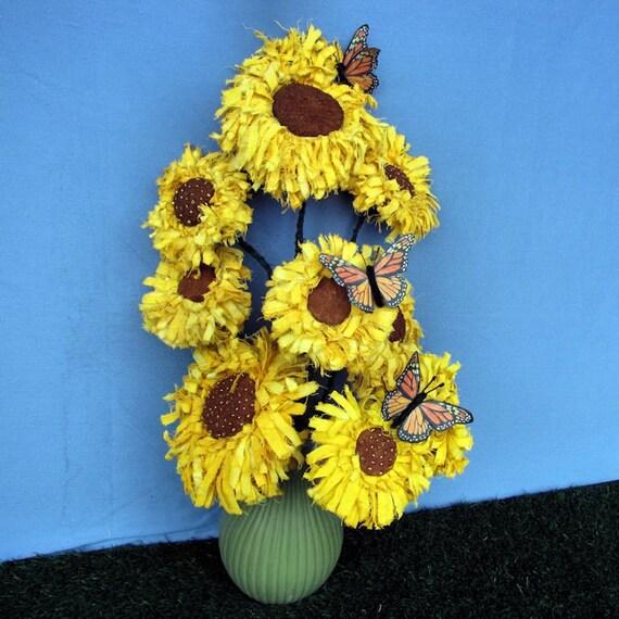 Primitive Pattern, Pdf Pattern, Sunflower, Butterfly, Primitive Sunflower