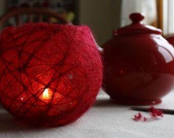 Felt Tutorial Wool Pattern Pdf Christmas Bowl Candelholder Lantern