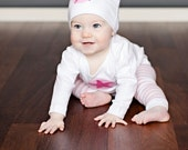 Star Baby Hat (White and Pink)