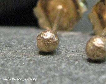 14K Gold Ball Studs.