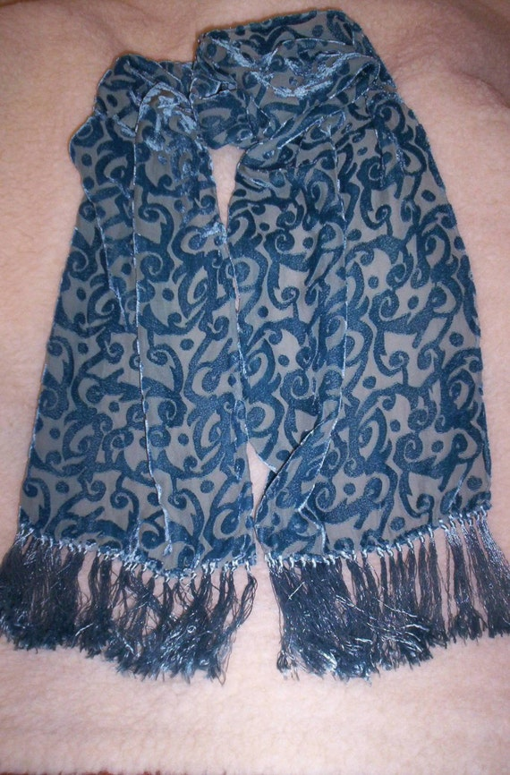 SALE--Gorgeous Hand Dyed Silk Blend Scarf--Lightweight--Animal Rescue--Free Shipping--5.00 Off
