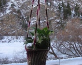 Hand-Knit Hanging Plant Holder - PAYING IT FORWARD
