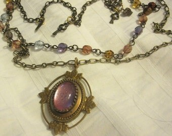 Catherine Rosary and Vintage Necklace OOAK