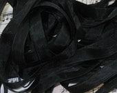 Black Seam Binding Silky Rayon Seam Binding Ribbon - 9 yards