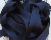 Dark Navy Blue Seam Binding Silky Rayon Seam Binding Ribbon - 9 yards