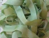 Spring Moss Seam Binding Silky Rayon Seam Binding Ribbon - 9 yards
