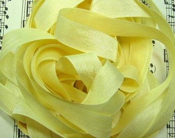 Pale Lemon Sorbet Seam Binding Silky Rayon Seam Binding Ribbon - 9 yards PSS 0506