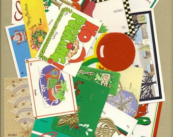 Assorted Vintage and Retro Christmas Tags for your Gifts, Collages, Scrapbooking, Paper Arts, Mixed Media and MORE PSS 0794