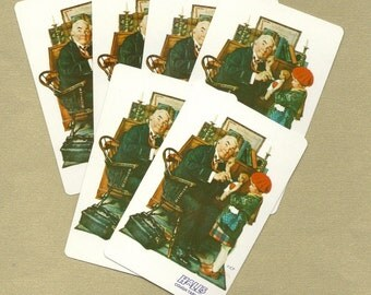 Vintage Norman Rockwell Playing Cards for ATCs, ACEOs, Collage, Scrapbooking, Paper Arts and MORE