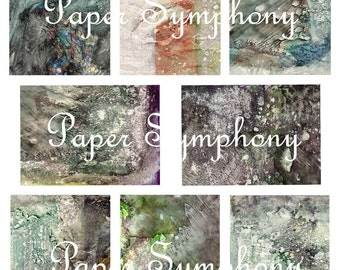 Instant Download Digital Collage Sheet for Gorgeous ATC and ACEO Backgrounds PSS 548