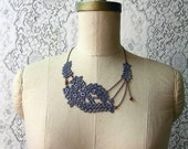 lace necklace -MAREIKE- gray - mothers day -wedding jewelry